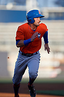 St. Lucie Mets Cody Bohanek (10) running the bases during a Florida State League game against the Tampa Tarpons on April 10, 2019 at George M. Steinbrenner Field in Tampa, Florida.  St. Lucie defeated Tampa 4-3.  (Mike Janes/Four Seam Images)