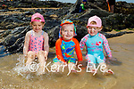 Enjoying the paddling pool on the beach in Ballybunion on Sunday, l to r: Erin and Billy O'Mahoney and Annalise Guiney.