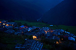 Dunche Nepal in the evening.