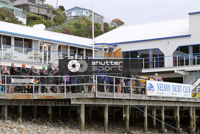 Sea swim, SI Masters Games, 10 October 2013, Nelson Yacht Club, Nelson, New Zealand<br /> Photo: Marc Palmano/shuttersport.co.nz