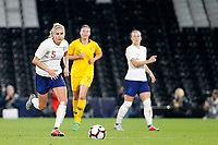 Steph Houghton of England Women on the ball during the Women's international friendly match between England Women and Australia at Craven Cottage, London, England on 9 October 2018. Photo by Carlton Myrie / PRiME Media Images.