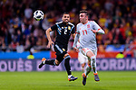 Iago Aspas of Spain (R) in action during the International Friendly 2018 match between Spain and Argentina at Wanda Metropolitano Stadium on 27 March 2018 in Madrid, Spain. Photo by Diego Souto / Power Sport Images