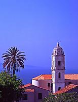 France. Corsica. Cargese village. The Latin Baroque Church.