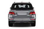Straight rear view of a 2018 Mercedes Benz GLE Base 5 Door SUV stock images