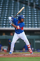 AZL Cubs 2 Widimer Joaquin (9) at bat during an Arizona League game against the AZL Reds on July 23, 2019 at Sloan Park in Mesa, Arizona. AZL Cubs 2 defeated the AZL Reds 5-3. (Zachary Lucy/Four Seam Images)
