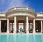 Italy, Tuscany, Montecatini Terme: The Tettuccio and pool | Italien, Toskana, Montecatini Terme: Terme Tettuccio