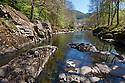 River Conwy, Betws-y-coed, Snowdonia National Park, Wales, UK.