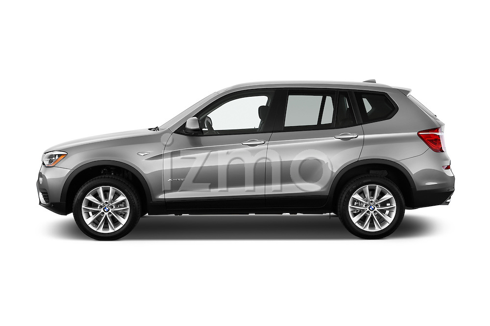 Car Driver side profile view of a 2017 BMW X3 sDrive28i 5 Door SUV Side View