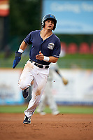 Lake County Captains right fielder Mitch Longo (39) runs the bases during the second game of a doubleheader against the West Michigan Whitecaps on August 6, 2017 at Classic Park in Eastlake, Ohio.  West Michigan defeated Lake County 9-0.  (Mike Janes/Four Seam Images)