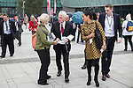 © Joel Goodman - 07973 332324 . 27/09/2016 . Liverpool , UK . Shadow Chancellor JOHN MCDONNELL outside the conference on the third day of the Labour Party Conference at the ACC Liverpool . Photo credit : Joel Goodman
