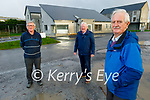 The Ard Curam Day Centre building sub committee standing outside the almost completed Alzheimer's Day Centre in Listowel on Friday.  Front right: Brendan O'Sullivan (Chairman). Back l to r: Patrick Carmody and Finbarr Mawe.