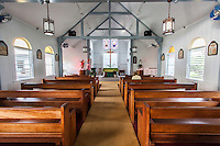 Interior of Good Shepherd Catholic Mission, Honomu, Big Island.