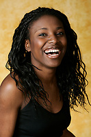 2005, Montreal Qc) CANADA<br /> Model Released photo<br /> a black woman expressions<br /> Photo : (c) 2005 Pierre Roussel