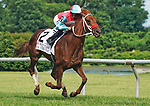 JULY 03, 2021: Yes This Time, #2, ridden by jockey Joe Bravo wins the Kent Stakes on July 03, 2021 at Delaware park in Willington, Delaware. Scott Serio/Eclipse Sportswire/CSM