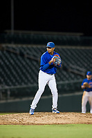 AZL Cubs relief pitcher Eugenio Palma (86) prepares to deliver a pitch during a game against the AZL Brewers on August 6, 2017 at Sloan Park in Mesa, Arizona. AZL Cubs defeated the AZL Brewers 8-7. (Zachary Lucy/Four Seam Images)