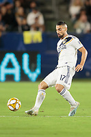 CARSON, CA - SEPTEMBER 15: Sebastian Lletget #17 of the Los Angeles Galaxy traps a ball during a game between Sporting Kansas City and Los Angeles Galaxy at Dignity Health Sports Complex on September 15, 2019 in Carson, California.