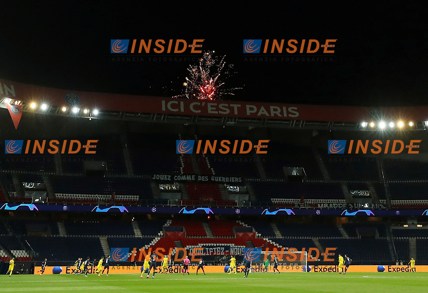 General view inside the stadium as fireworks are seen outside   <br /> Photo Pool/Panoramic/Insidefoto