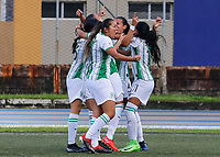 GUARNE - COLOMBIA, 16-11-2020: Atlético Nacional y Real San Andrés en partido por la fecha 5 como parte de la Liga femenina BetPlay DIMAYOR 2020 jugado en el estadio Bernardo Nando Alvares de Guarne. / Atletico Nacional and Real San Andres in match for the date 5 as part of Women's BetPlay DIMAYOR League 2020 played at Municipal Bernardo Nando Alvarez stadium in Guarne. Photo: VizzorImage / Donaldo Zuluaga / Cont