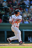 Third baseman Mitchell Gunsolus (22) of the Greenville Drive bats in a game against the Columbia Fireflies on Sunday, May 8, 2016, at Fluor Field at the West End in Greenville, South Carolina. Greenville won, 5-4. (Tom Priddy/Four Seam Images)
