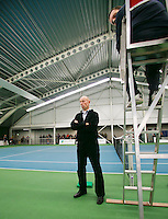 18-01-14,Netherlands, Rotterdam,  TC Victoria, Wildcard Tournament, Chief of Umpires Rob Mulder<br /> Photo: Henk Koster