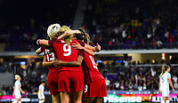 Orlando City, FL - Wednesday March 07, 2018: USWNT celebrate a goal during a 2018 SheBelieves Cup match between the women's national teams of the United States (USA) and England (ENG) at Orlando City Stadium.
