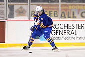 Buffalo Junior Sabres forward Ryan Kuhn (16) during a game against the St. Michaels Buzzers at the Frozen Frontier outdoor game at Frontier Field on December 15, 2013 in Rochester, New York.  St. Michael's defeated Buffalo 5-4.  (Copyright Mike Janes Photography)