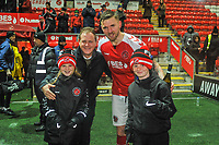 Fleetwood Town's defender Ash Eastham (5) named man of the match during the Sky Bet League 1 match between Fleetwood Town and Burton Albion at Highbury Stadium, Fleetwood, England on 15 December 2018. Photo by Stephen Buckley / PRiME Media Images.