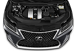 Car Stock 2021 Lexus RX 350 5 Door SUV Engine  high angle detail view