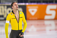 28th December 2020; Thialf Ice Stadium, Heerenveen, Netherlands; World Championship Speed Skating;  500m men, Thomas Krol during the WKKT