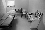 Prison cell UK 1980s. Prisoners cell with prisoners  possessions. HM Prison Styal Wilmslow Cheshire England 1986
