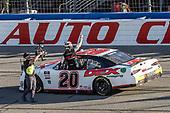 #20: Harrison Burton, Joe Gibbs Racing, Toyota Supra Dex Imaging celebrates his victory