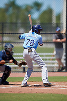 Tampa Bay Rays Yunior Martinez (78) during a Minor League Extended Spring Training game against the Atlanta Braves on April 15, 2019 at CoolToday Park Training Complex in North Port, Florida.  (Mike Janes/Four Seam Images)