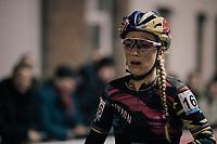 Pauline Ferrand-Prevot (FRA/Canyon-SRAM) rolling in<br /> <br /> Women's Race<br /> Superprestige Diegem / Belgium 2017