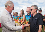 HRH Prince Charles meets Chris Jenkins, CEO Commonwealth Games Council for Wales.<br /> <br /> *This image must be credited to Ian Cook Sportingwales and can only be used in conjunction with this event only*<br /> <br /> 21st Commonwealth Games  -  Day 1- 05\04\2018 - Kurrawa Surf Club - Gold Coast City - Australia