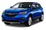 2018 Opel Grandland X Innovation 5 Door SUV angular front stock photos of front three quarter view