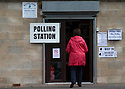 07/05/15<br /> <br /> Voters arrive to cast their votes at The Royal Oak Boxing Club, Newhall, Derbyshire.<br /> <br /> All Rights Reserved - F Stop Press.  www.fstoppress.com. Tel: +44 (0)1335 418629 +44(0)7765 242650