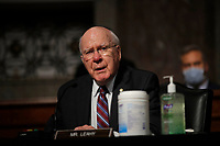 United States Senator Patrick Leahy (Democrat of Vermont), speaks during a US Senate Judiciary Committee business meeting on Capitol Hill in Washington, Thursday, June 11, 2020. <br /> Credit: Carolyn Kaster / Pool via CNP/AdMedia