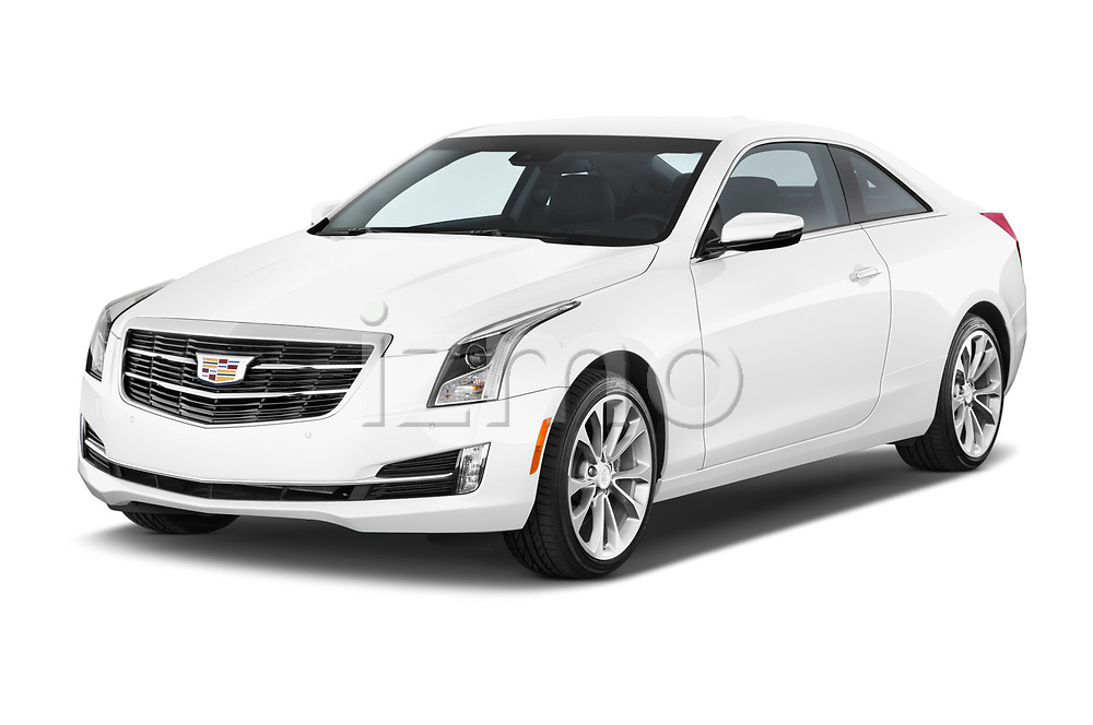 2015 Cadillac ATS 2.0 RWD Premium 2 Door Coupe Angular Front stock photos of front three quarter view