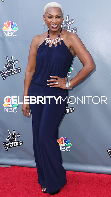 """UNIVERSAL CITY, CA, USA - APRIL 15: Sisaundra Lewis at NBC's """"The Voice"""" Season 6 Top 12 Red Carpet Event held at Universal CityWalk on April 15, 2014 in Universal City, California, United States. (Photo by Xavier Collin/Celebrity Monitor)"""