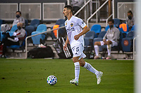 SAN JOSE, CA - SEPTEMBER 13: Daniel Steres #5 of the Los Angeles Galaxy during a game between Los Angeles Galaxy and San Jose Earthquakes at Earthquakes Stadium on September 13, 2020 in San Jose, California.
