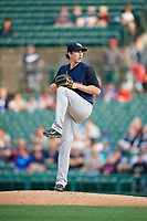 Scranton/Wilkes-Barre RailRiders relief pitcher Bryan Mitchell (55) delivers a pitch during the first game of a doubleheader against the Rochester Red Wings on August 23, 2017 at Frontier Field in Rochester, New York.  Rochester defeated Scranton 5-4 in a game that was originally started on August 22nd but was was postponed due to inclement weather.  (Mike Janes/Four Seam Images)