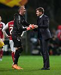 26.02.2020 SC Braga v Rangers: Allan McGregor and Steven Gerrard