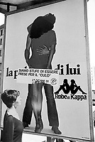 "- campaign of the leftist group ""Democrazia Proletaria"" against the advertising offensive for the women (Milan, 1976)....- campagna del gruppo di sinistra ""Democrazia Proletaria"" contro la pubblicità offensiva per le donne (Milano,1976)"