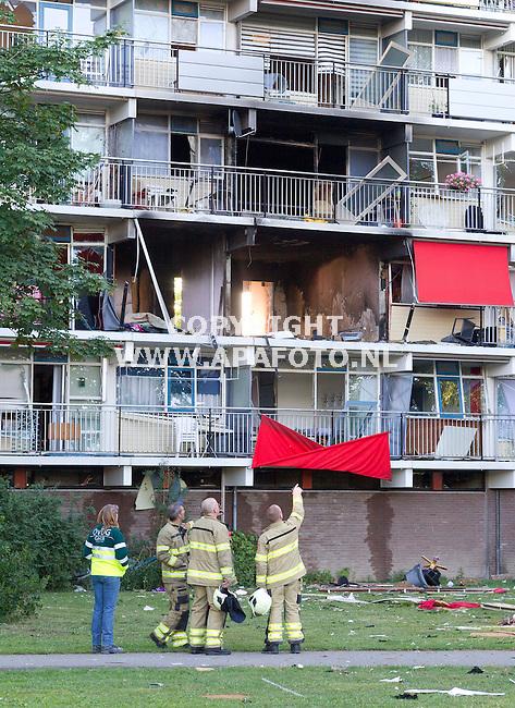 Arnhem, 130813<br /> Door een gasexplosie zijn  vier flatwoningen aan het Driemondsplein compleet weggeslagen.<br /> Foto: Sjef Prins - APA Foto