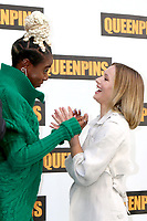 LOS ANGELES - AUG 25:  Kirby Howell-Baptiste, Kristen Bell at the Queenpins Photocall at the Four Seasons Hotel Los Angeles on August 25, 2021 in Los Angeles, CA
