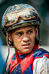 SARATOGA SPRINGS, NY - AUGUST 26: Javier Castellano at Saratoga Race Course on August 26, 2017 in Saratoga Springs, New York. (Photo by Alex Evers/Eclipse Sportswire/Getty Images)