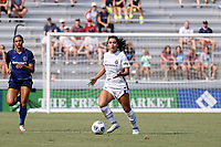 CARY, NC - SEPTEMBER 12: Rocky Rodriguez #11 of the Portland Thorns FC plays the ball during a game between Portland Thorns FC and North Carolina Courage at Sahlen's Stadium at WakeMed Soccer Park on September 12, 2021 in Cary, North Carolina.