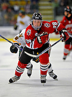 18 January 2008: Northeastern University Huskies' defenseman Mike Hewkin, a Freshman from St. Charles, MO, in action against the University of Vermont Catamounts at Gutterson Fieldhouse in Burlington, Vermont. The two teams battled to a 2-2 tie in the first game of their 2-game weekend series...Mandatory Photo Credit: Ed Wolfstein Photo