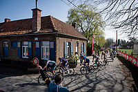 peloton atop the Trieu (aka 'Knokteberg')<br /> <br /> 76th Dwars door Vlaanderen 2021 (MEN1.UWT)<br /> 1 day race from Roeselare to Waregem (184km)<br /> <br /> ©kramon