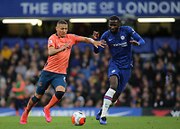 Richarlison of Everton takes on Chelsea's Antonio Rudiger  during Chelsea vs Everton, Premier League Football at Stamford Bridge on 8th March 2020